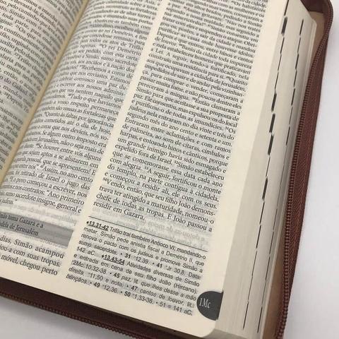 Imagem de Bíblia Sagrada Católica Cnbb Média Ziper Luxo