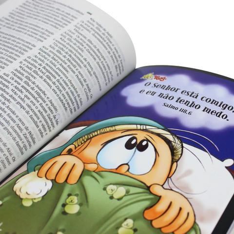 Imagem de Bíblia Sagrada Infantil Mig  e Meg  - NTLH - Capa Dura Azul
