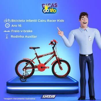 Imagem de Bic aro16 f.fio masc. racer kids cairu - 319373