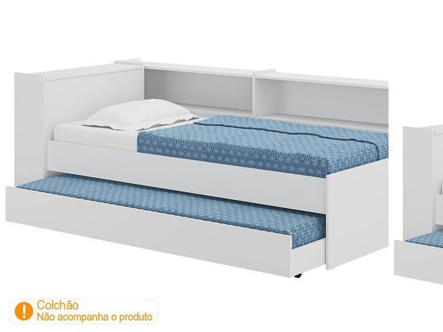 Imagem de Bicama Solteiro com Bau e 2 Prateleiras
