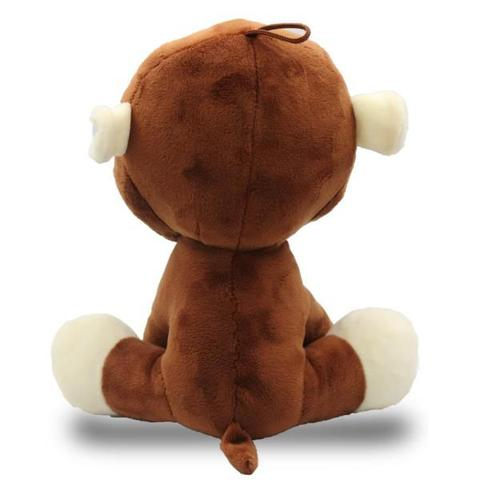 Imagem de Bicho de Pelúcia Safári 35cm - Macaco Marrom - Unik Toys