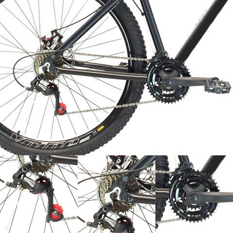 Imagem de Bicicleta 26 Vikingx 21v Index Vmaxx Freio Disco Pt Amarelo