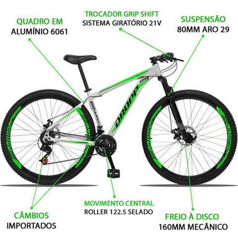 Imagem de Bicicleta 29 DROPP Aluminum 21V Index Freio Disco