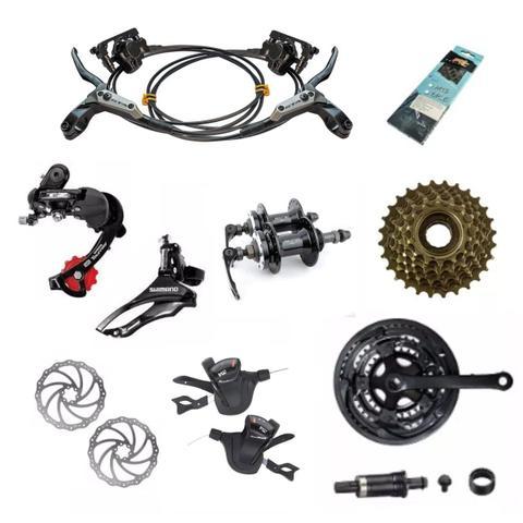 Imagem de Bicicleta 29 GTA NX11 24v Kit Shimano F. Hidraulico Preto com Grafite 17