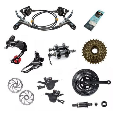 Imagem de Bicicleta 29 GTA NX11 24v Kit Shimano F. Hidraulico Preto com Grafite 19
