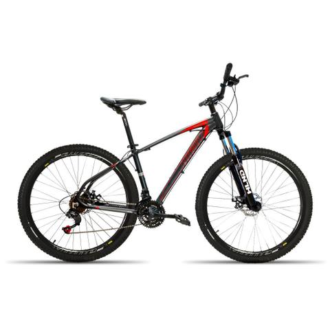 Imagem de Bicicleta 29 High One 21V Kit Shimano F. Hidraulico Preto com Vermelho 19