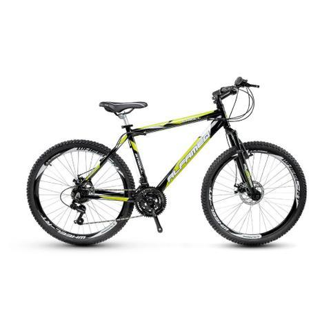 Bicicleta Alfameq Stroll Disc T17 Aro 26 Susp. Dianteira 24 Marchas - Preto/verde