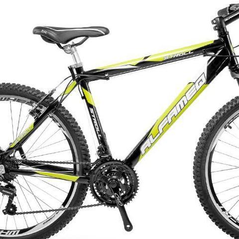 Imagem de Bicicleta Alfameq Stroll Aro 26 Vbrake 21 Marchas Preta Com Verde