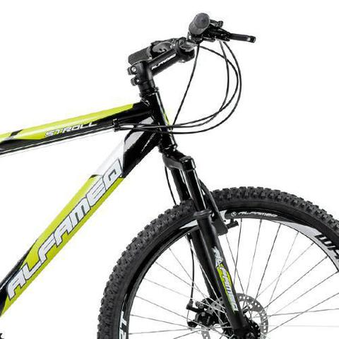 Imagem de Bicicleta Alfameq Stroll Aro 29 Freio À Disco 27 Marchas Preta Com Verde