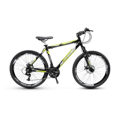 Imagem de Bicicleta Alfameq Stroll Aro 29 Freio Hidráulico 24 Marchas Preta Com Verde