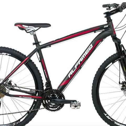 Imagem de Bicicleta Alfameq Zahav Aro 29 Freio À Disco 21 Marchas Branca Com Vermelho