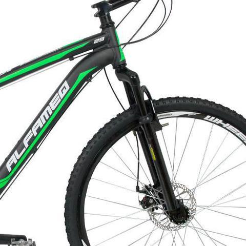 Imagem de Bicicleta Alfameq Zahav Aro 29 Freio À Disco 21 Marchas Preta Com Verde
