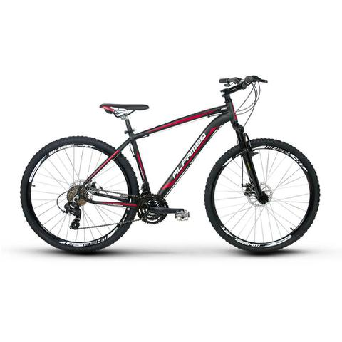 Imagem de Bicicleta Alfameq Zahav Aro 29 Freio À Disco 24 Marchas Preta com Vermelha