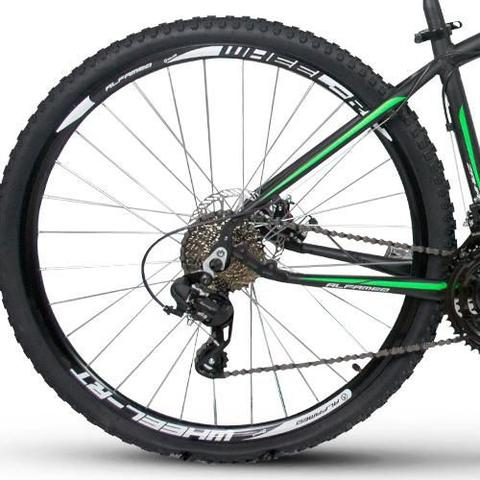 Imagem de Bicicleta Alfameq Zahav Aro 29 Freio À Disco 24 Marchas Preto com Verde