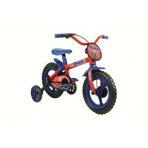 Bicicleta Track&bikes Arco-íris Aro 12 Rígida 1 Marcha - Azul/vermelho