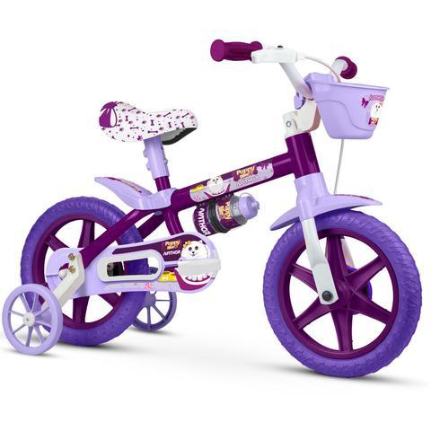 Bicicleta Nathor Puppy Aro 12 Rígida 1 Marcha - Roxo