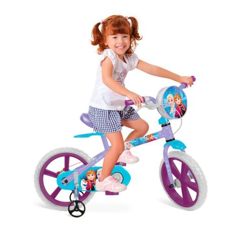 Bicicleta Bandeirante Frozen Aro 14 Rígida 1 Marcha - Lilás
