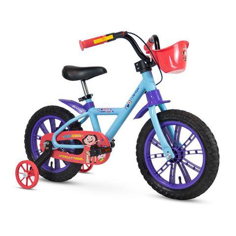 Bicicleta Nathor Show da Luna Aro 14 Rígida 1 Marcha - Azul