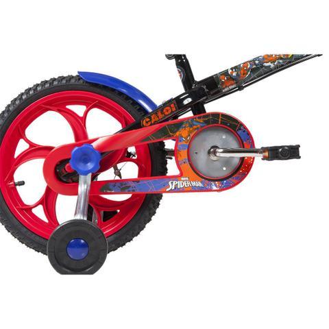 Imagem de Bicicleta ARO 16 - Disney - Marvel - Spider-Man - Preta - Caloi