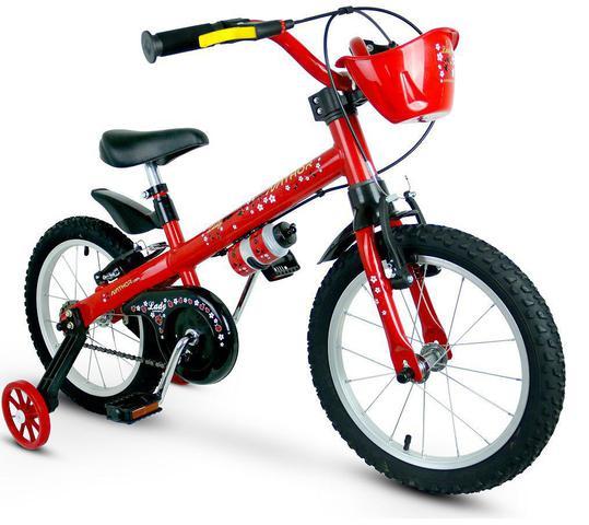 Bicicleta Nathor Lady Aro 16 Rígida 1 Marcha - Vermelho