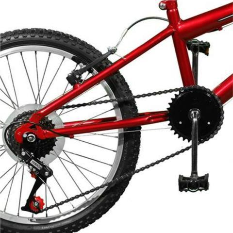 Imagem de Bicicleta Aro 20 Ciclone Plus Vermelho/Preto Master Bike 7M