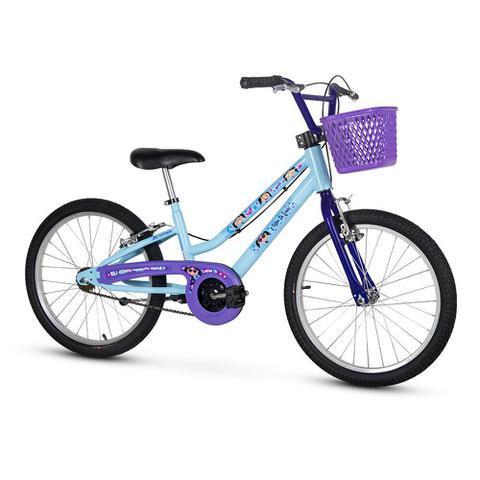 Bicicleta Nathor Show da Luna Aro 20 Rígida 1 Marcha - Azul