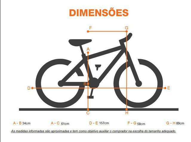Imagem de Bicicleta Aro 24 18 Marchas Status Lenda