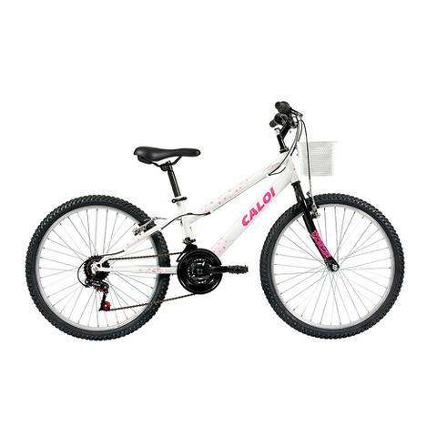 Imagem de Bicicleta Aro 24 - 21 Marchas Ceci Branca - Caloi