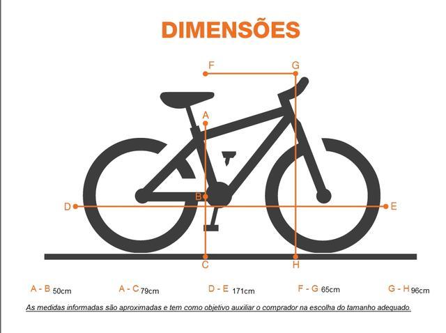 Imagem de Bicicleta Aro 26 18 Marchas Status Belissima c/ Suspensão Dianteira