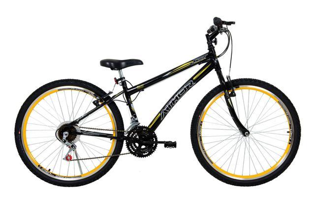 Bicicleta Athor Bike Jet Aro 26 Rígida 18 Marchas - Amarelo/preto