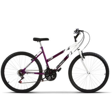 Imagem de Bicicleta Aro 26 Feminina Bicolor 18 Marchas Aço Carbono Ultra Bikes