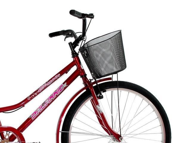 Imagem de Bicicleta Aro 26 Feminina Classic V-Break com Cesta e Paralama - Dalannio Bike
