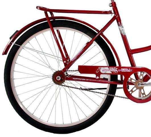 Imagem de Bicicleta Aro 26 Feminina Dalannio Bike Classic Freio no Pé Vermelha