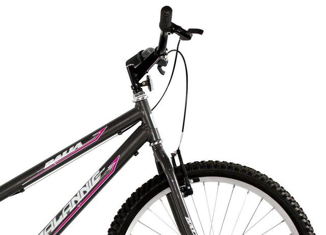 Imagem de Bicicleta Aro 26 Feminina Dalia Sem Marcha Grafite - Dalannio Bike
