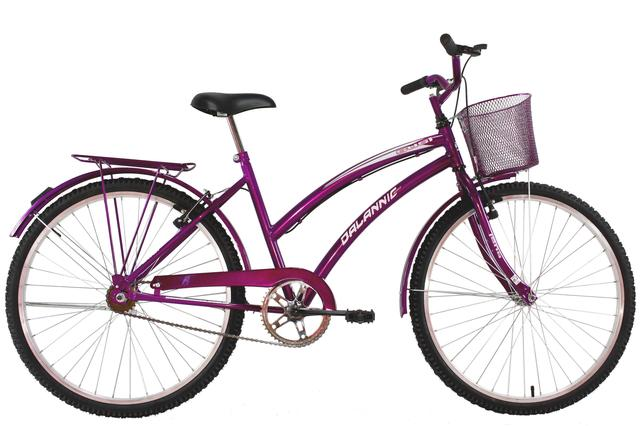 Bicicleta Dalannio Bike Susi Aro 26 Rígida 1 Marcha - Roxo