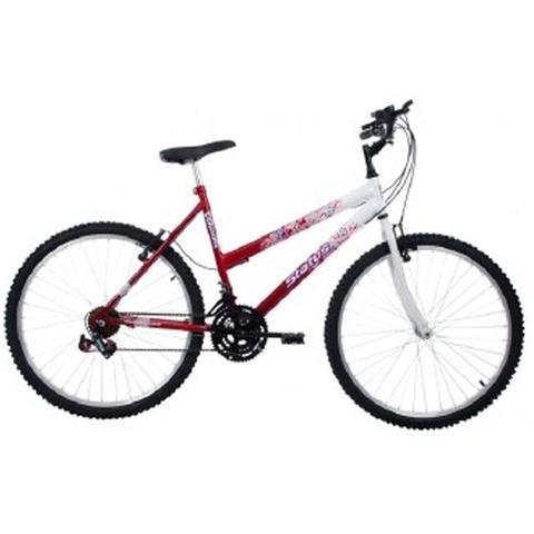 5f7979eda Imagem de Bicicleta Aro 26 Status Feminino Quadro MTB-AÇO 18 Marchas  Belissima