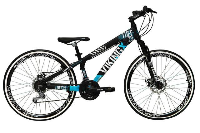 Imagem de Bicicleta Aro 26 Vikingx Tuff 21v Alumínio Freio a Disco Aros Vmaxx Garfo Suspensão Freeride Dh
