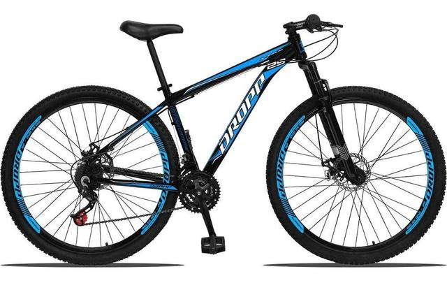 Bicicleta Dropp Aluminum T21 Aro 29 Susp. Dianteira 21 Marchas - Azul