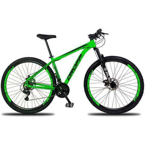 Bicicleta Dropp Aluminum Disc M T15.5 Aro 29 Susp. Dianteira 21 Marchas - Verde