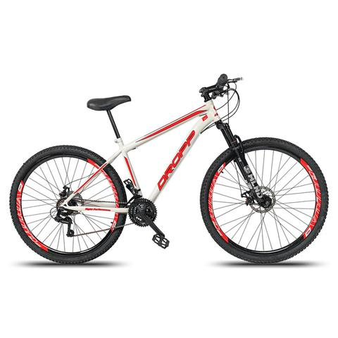 Bicicleta Dropp Sport T17 Aro 29 Rígida 21 Marchas - Branco/vermelho