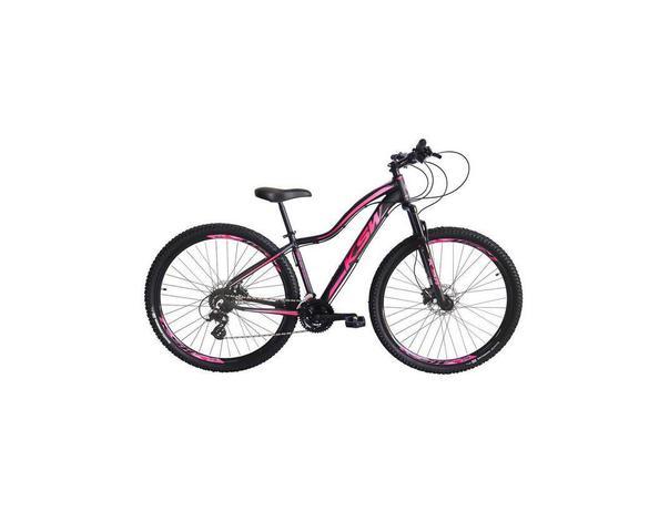 Imagem de Bicicleta Aro 29 Feminina Ksw Mwza 21v Alumínio Freio a Disco Garfo com Suspensão - Preto / Rosa Tam.17