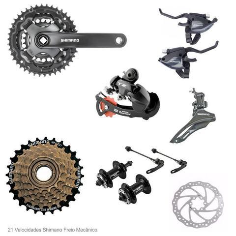 Imagem de Bicicleta Aro 29 GTA NX11 21V Relação Shimano Preto com Laranja 17