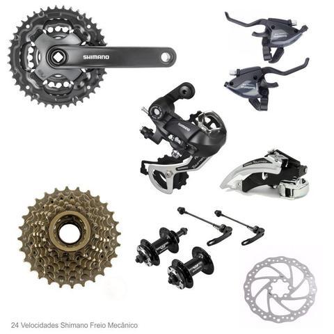 Imagem de Bicicleta Aro 29 GTA NX11 24v Relação Shimano Preto com Laranja 17