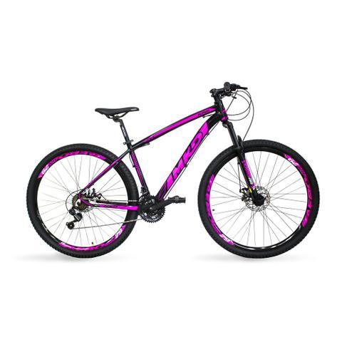 Imagem de Bicicleta Aro 29 MKD King 21v Câmbios Shimano Freio a Disco Preto e Rosa Quadro 15