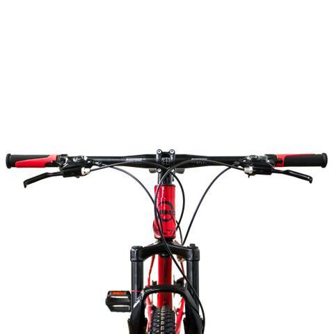 Imagem de Bicicleta Aro 29 MKD King 21v Câmbios Shimano Freio a Disco Vermelho e Preto Quadro 17