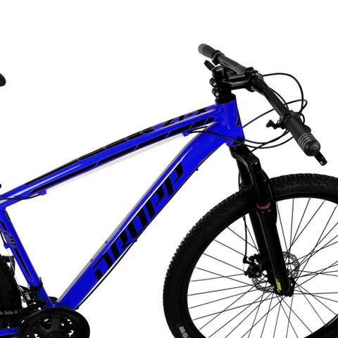 Imagem de Bicicleta Aro 29 Quadro 15 Alumínio 21 Marchas Freio Disco Mecânico Z1-X Azul/Preto - Dropp