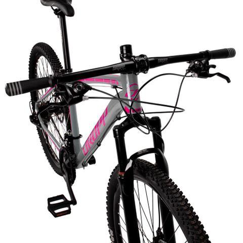 Imagem de Bicicleta Aro 29 Quadro 15 Alumínio 21 Marchas Freio Disco Mecânico Z1-X Cinza/Rosa - Dropp
