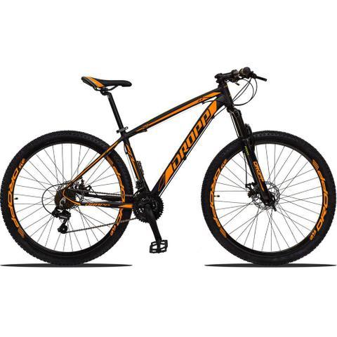 Imagem de Bicicleta Aro 29 Quadro 15 Alumínio 21v Suspensão Freio Disco Mecânico Z3 Preto/Laranja - Dropp