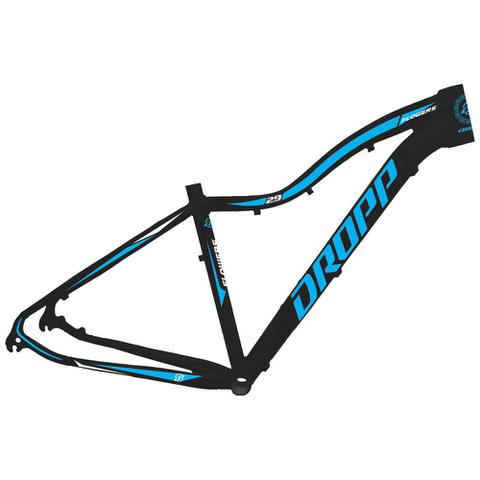 Imagem de Bicicleta Aro 29 Quadro 17 Alumínio 21 Marchas Freio Disco Mecânico Flower Preto/Azul - Dropp