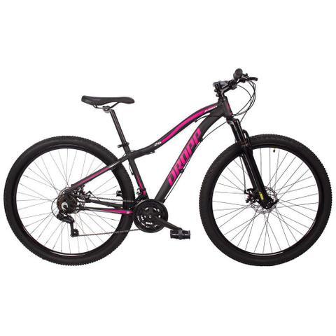 Imagem de Bicicleta Aro 29 Quadro 17 Alumínio 21 Marchas Freio Disco Mecânico Flower Preto/Rosa - Dropp